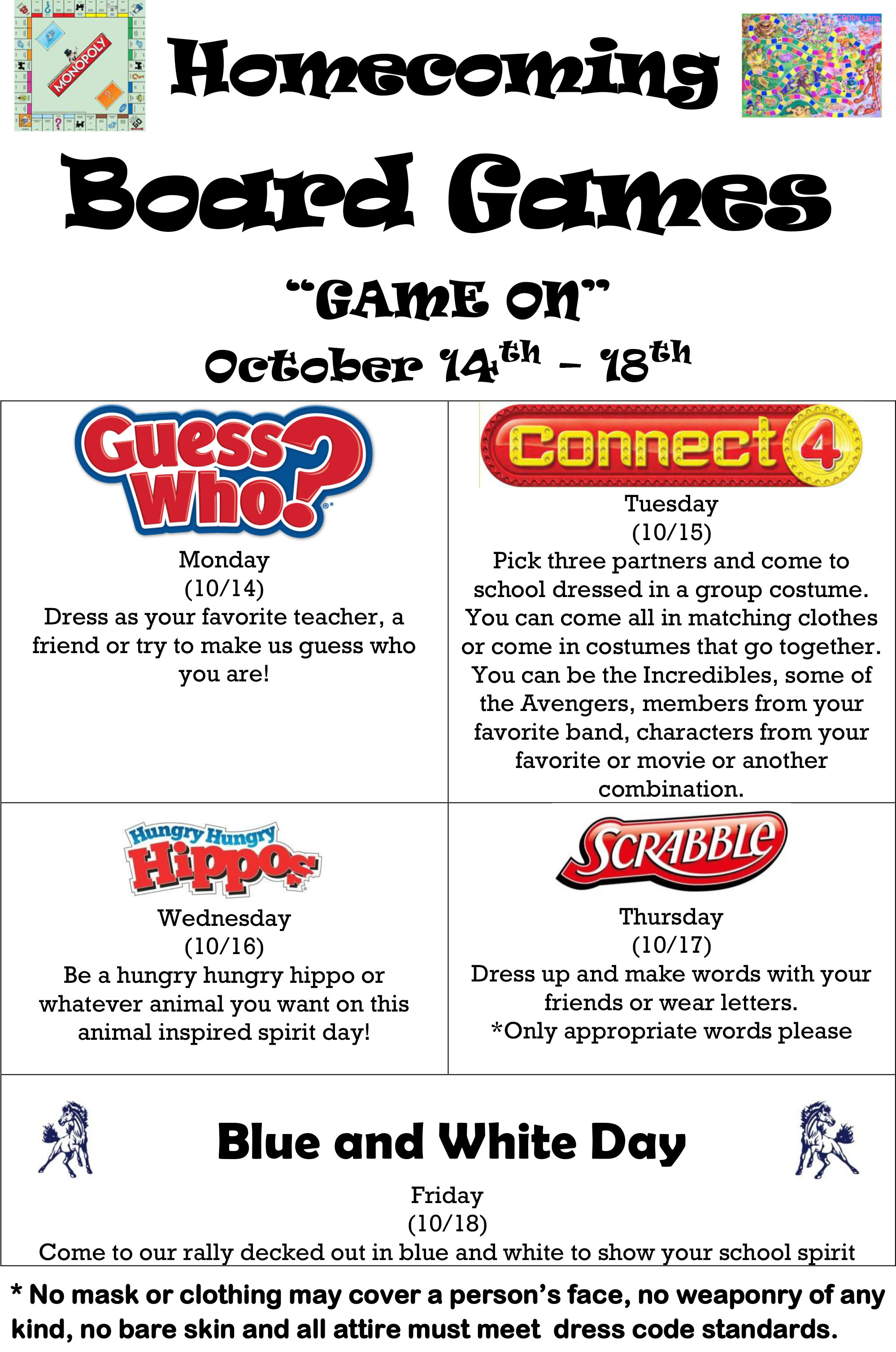 Homecoming Board Games Game On October 14 - 118
